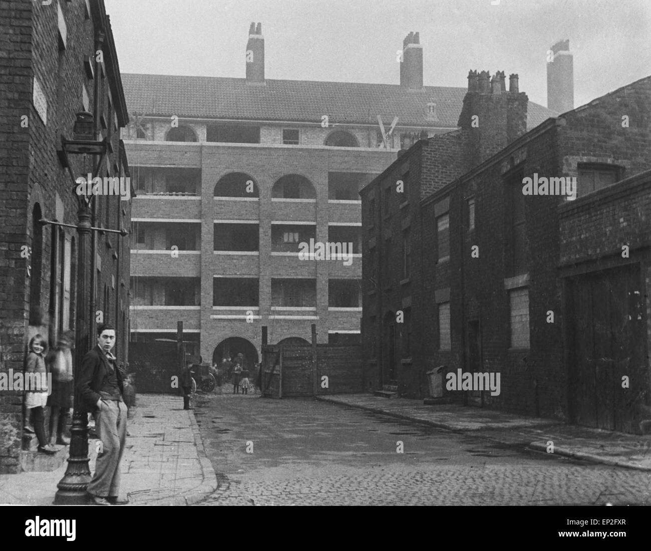 6 - 44 Torboch Street, Liverpool, part of the slum clearance redevelopment 2nd March, 1933 - Stock Image