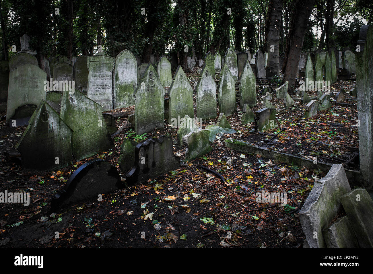 Tower Hamlets Cemetery in the East End of London. - Stock Image