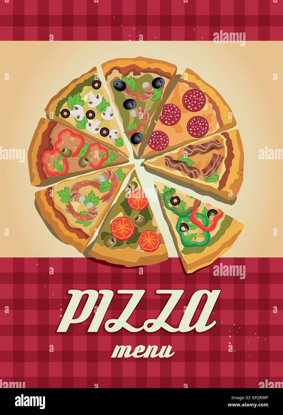 vector pizza label or poster design template pizza design menu