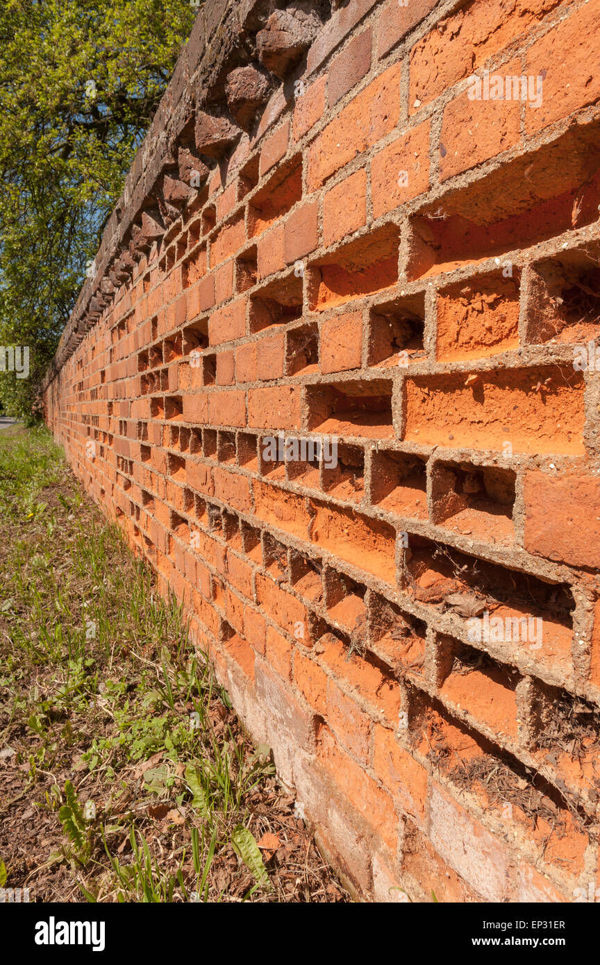 Bad preservation or conservation the repair cement is too hard and impervious to water movement holding more water - Stock Image