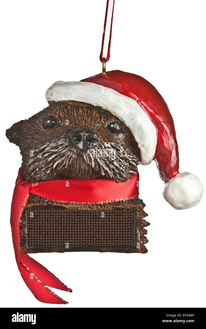 Sea otter in santa hat christmas ornament Stock Photo: 82433142 - Alamy