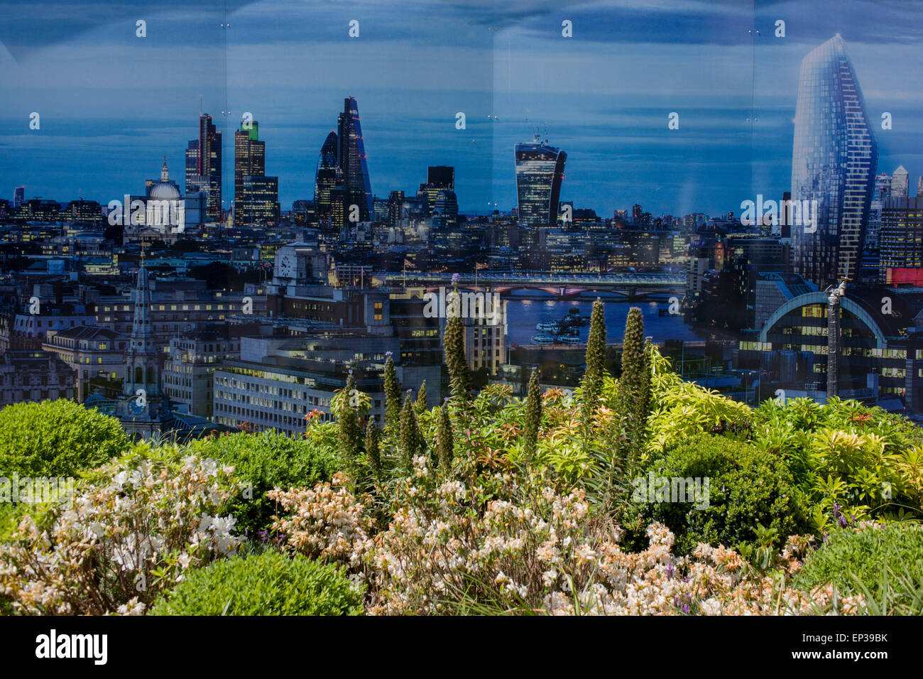 One Blackfriars property development marketing suite hoarding landscape, symbolising increasing private ownership - Stock Image
