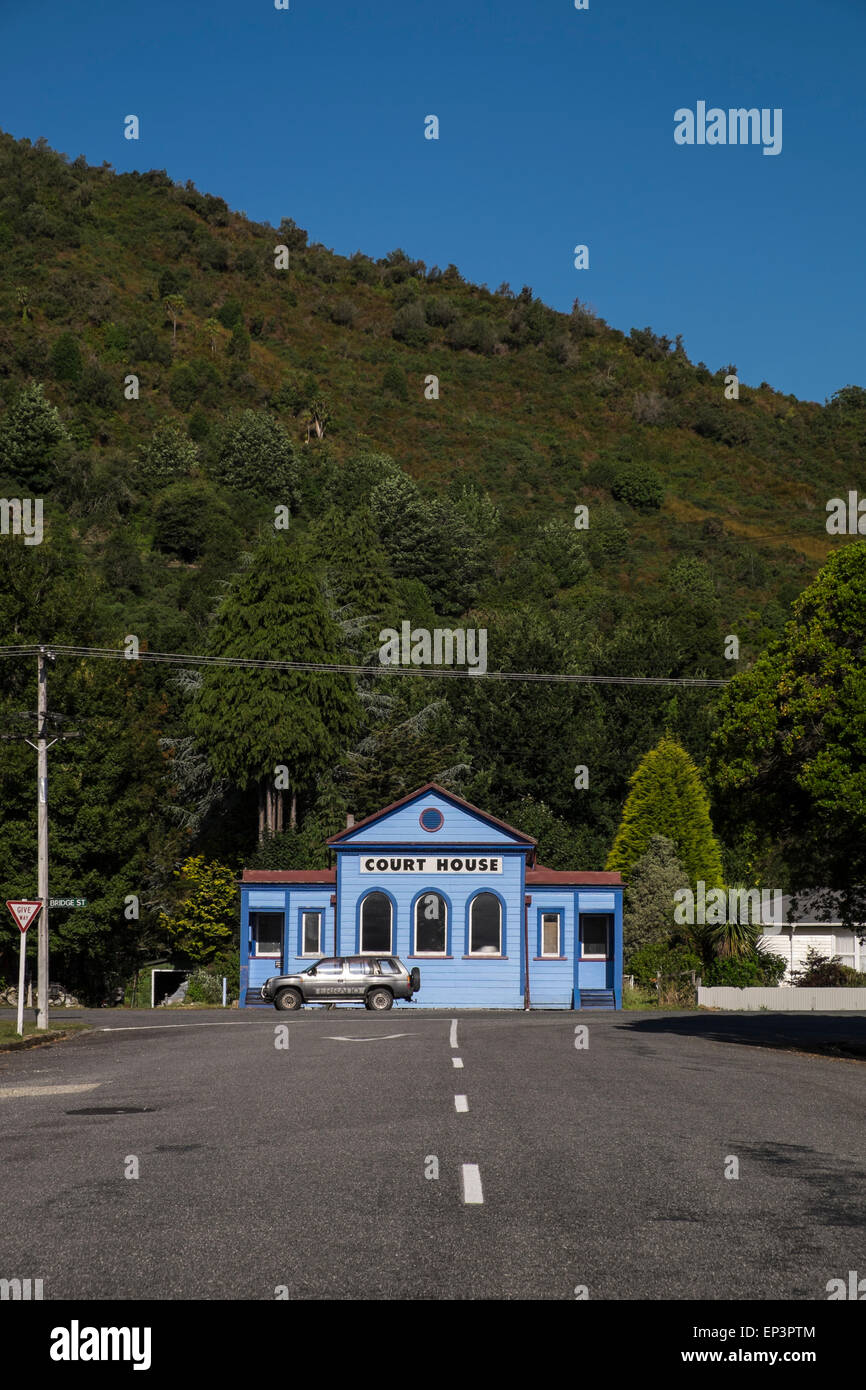 The Court House in Reefton, New Zealand. Stock Photo