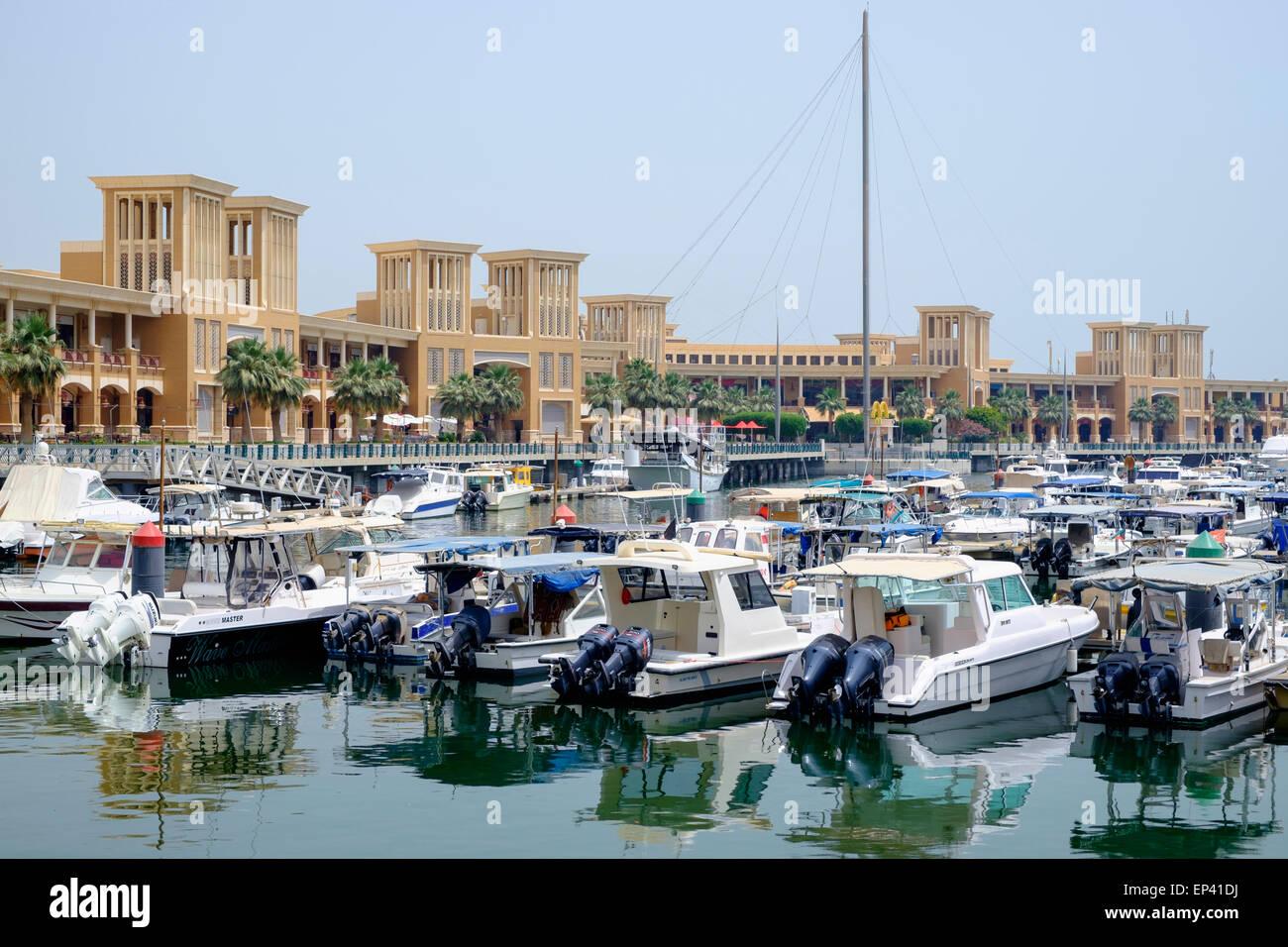 Souq Sharq shopping mall and marina in Kuwait City Kuwait - Stock Image
