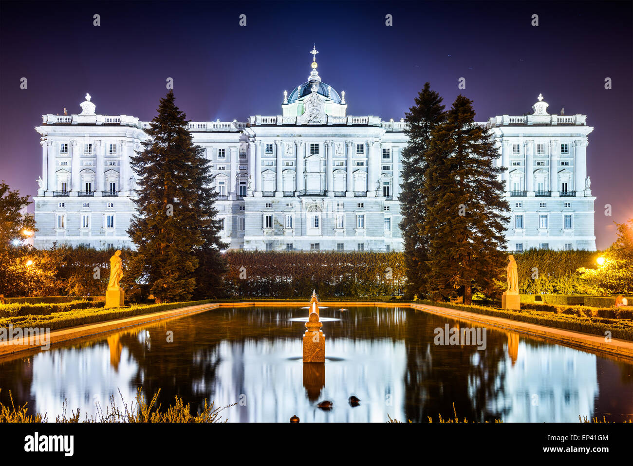 Madrid, Spain at the Royal Palace. - Stock Image