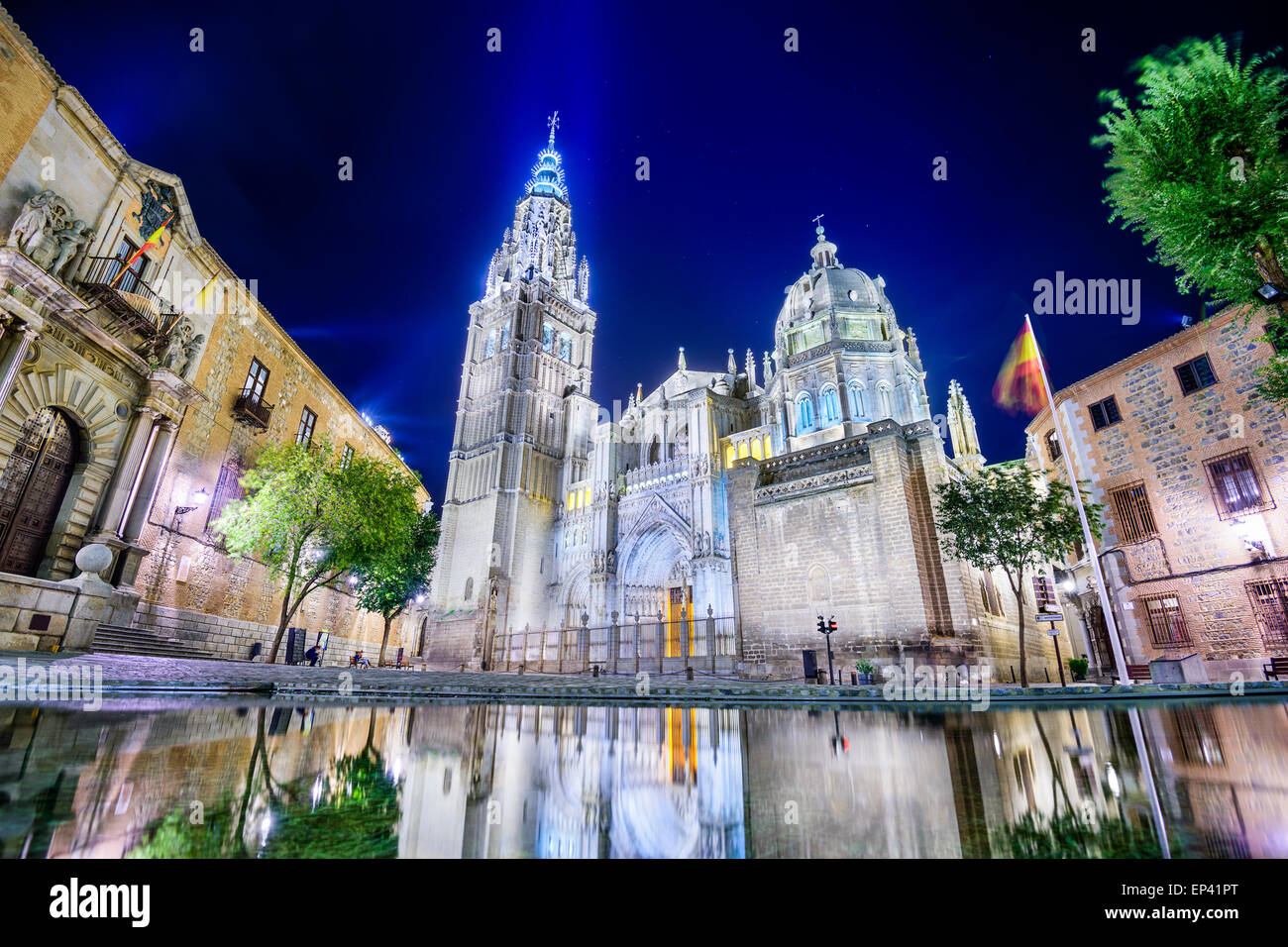 Toledo, Spain at the The Primate Cathedral of Saint Mary of Toledo. - Stock Image