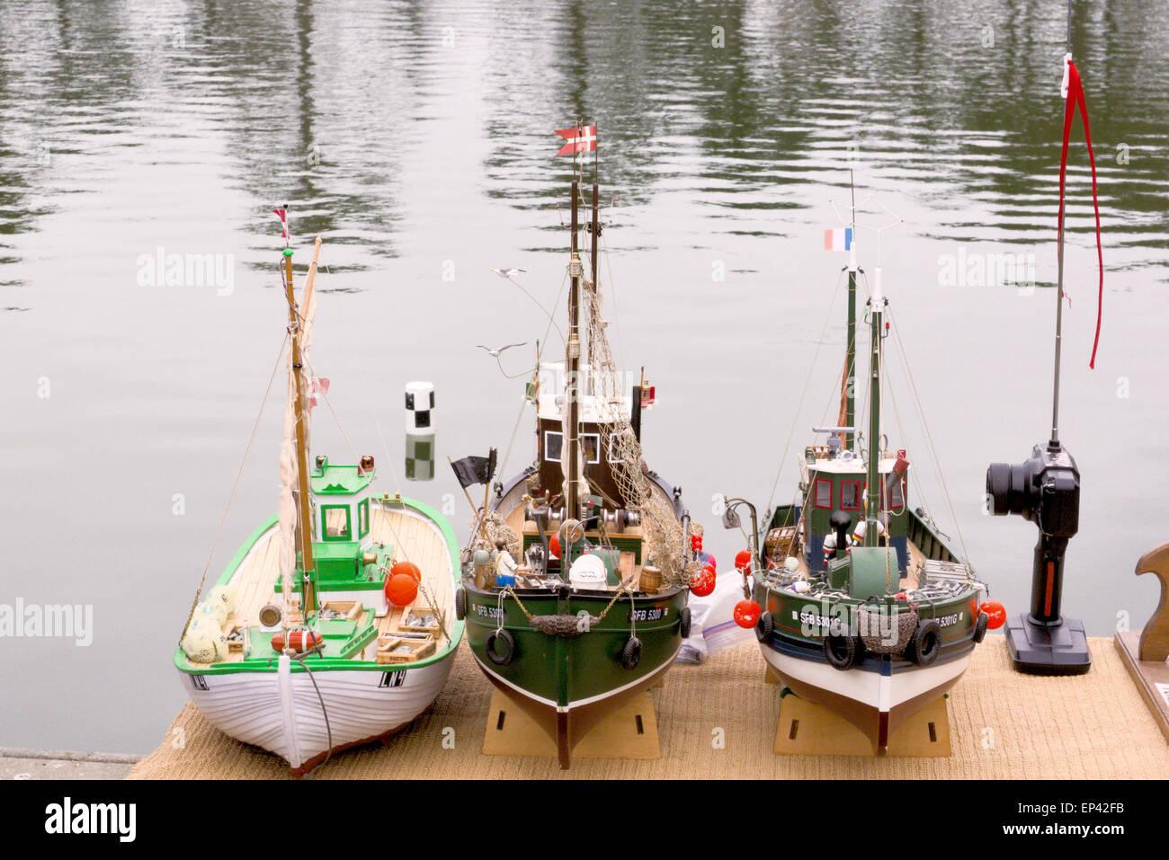 radio controlled model boats - Stock Image