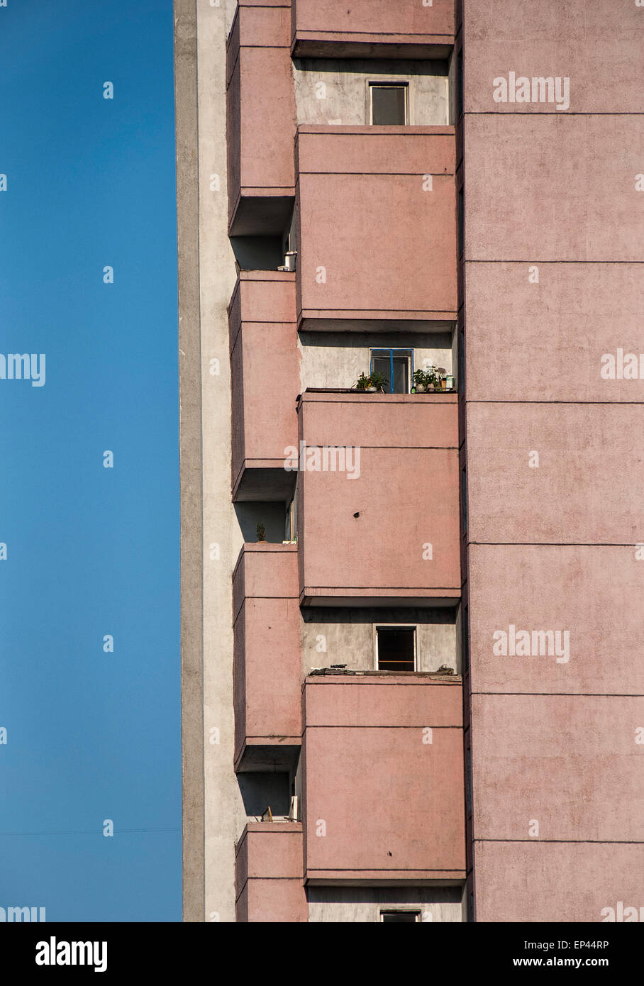 Residental building in Pyongyang, North Korea, DPRK - Stock Image