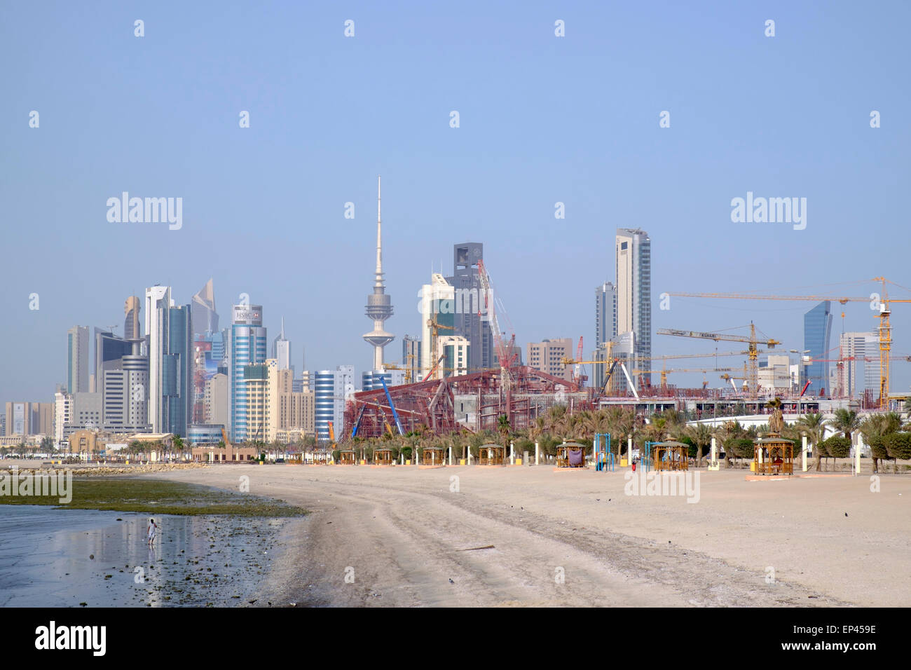 Skyline of central Kuwait City  in Kuwait - Stock Image