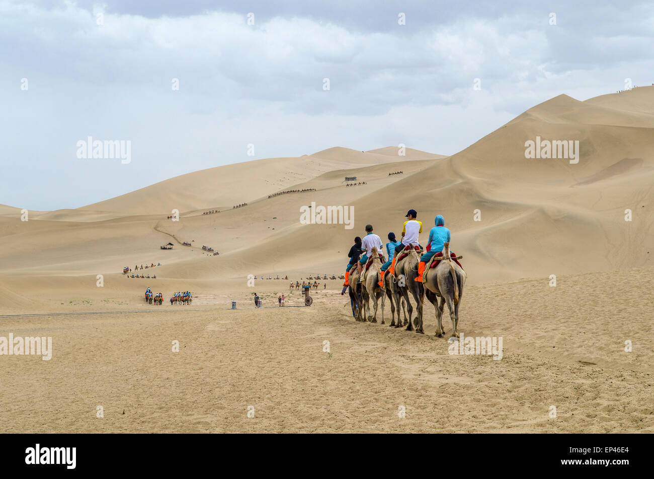 Sand dunes at Dunhuang, Gansu, China - Stock Image