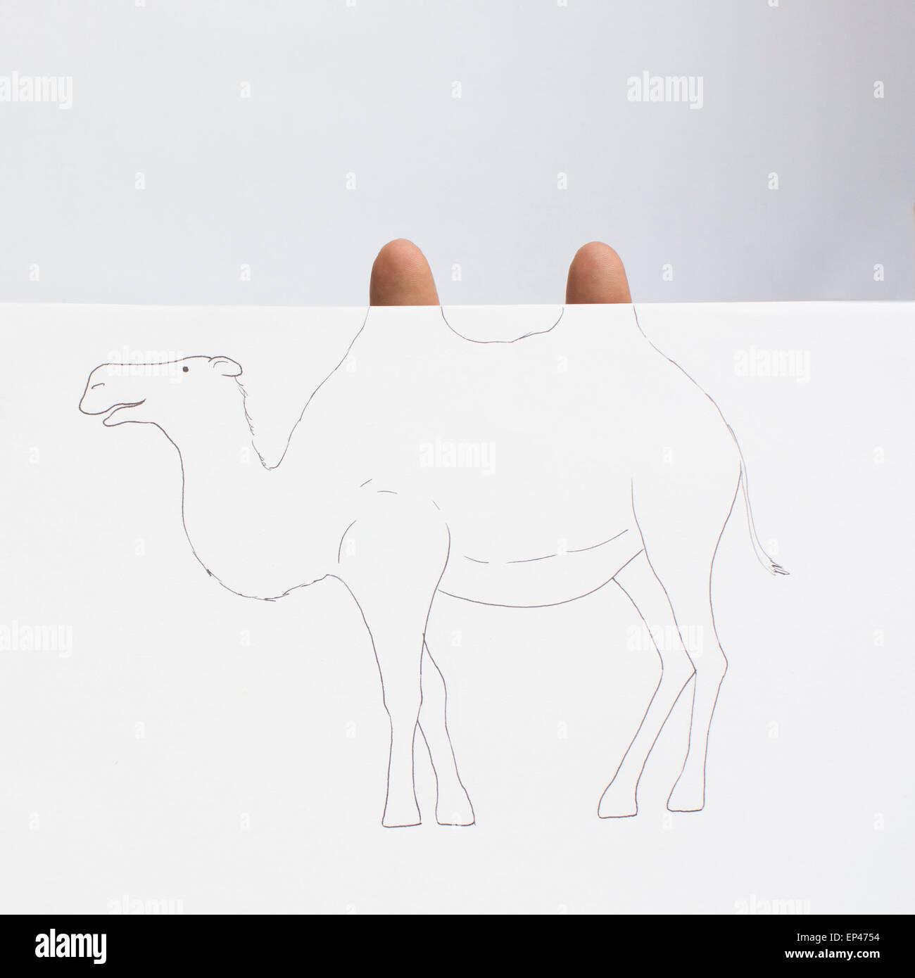 Conceptual camel - Stock Image