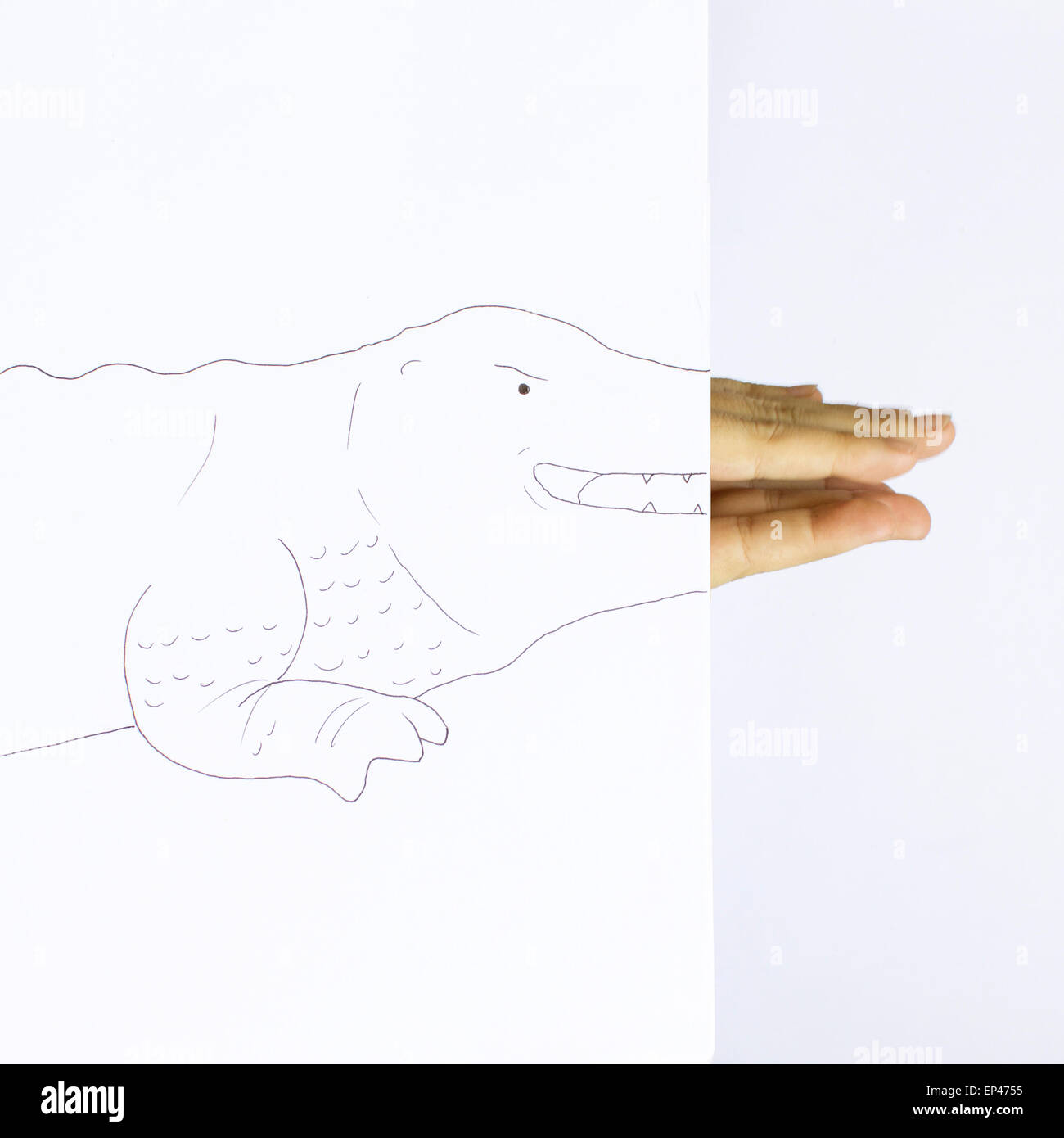 Conceptual crocodile - Stock Image