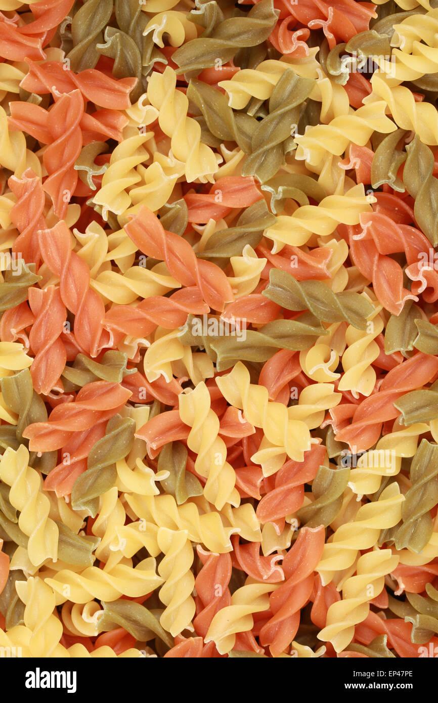 Bunte Pasta - Stock Image