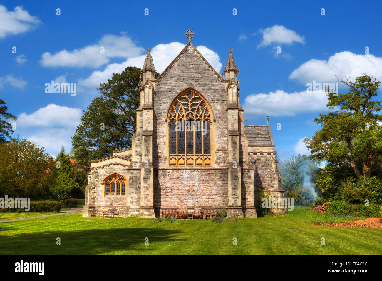 St Saviour church, Brockenhurst, Hampshire, England, UK - Stock Image