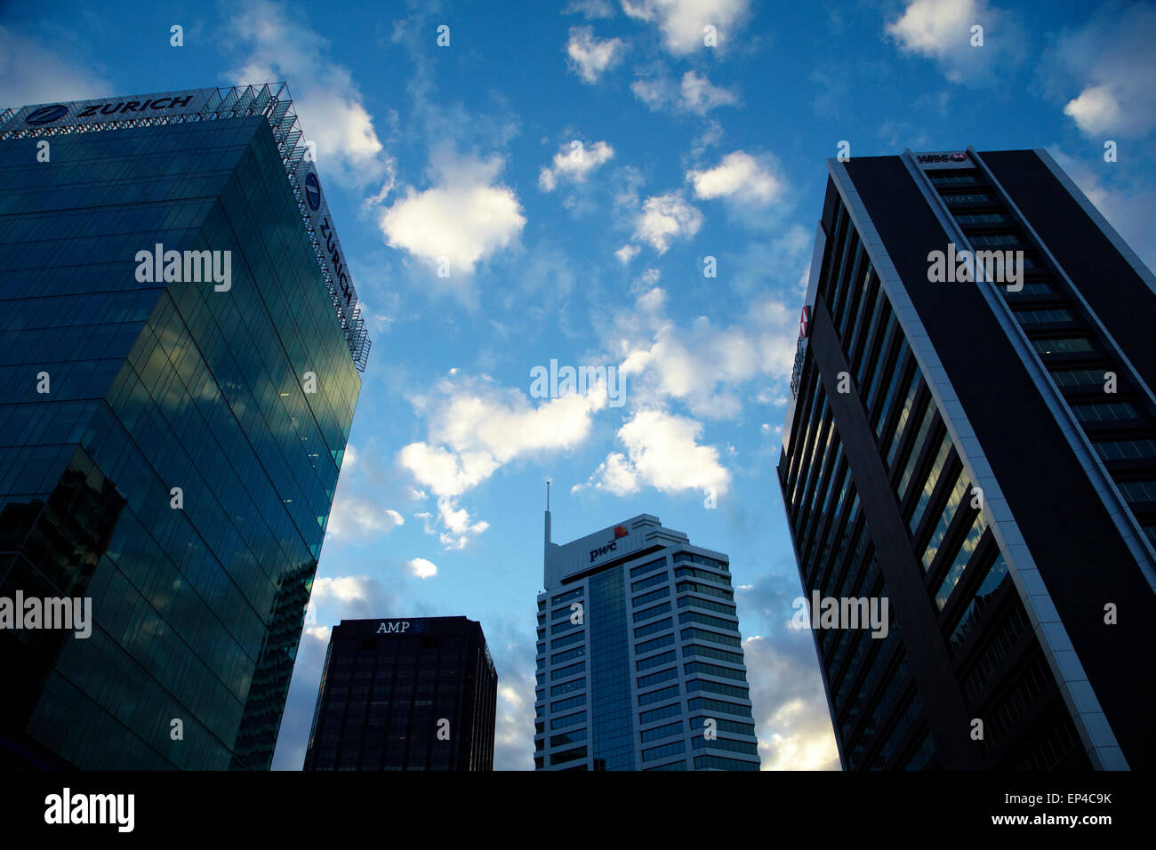 High-rise office buildings, Auckland CBD, North Island, New Zealand - Stock Image