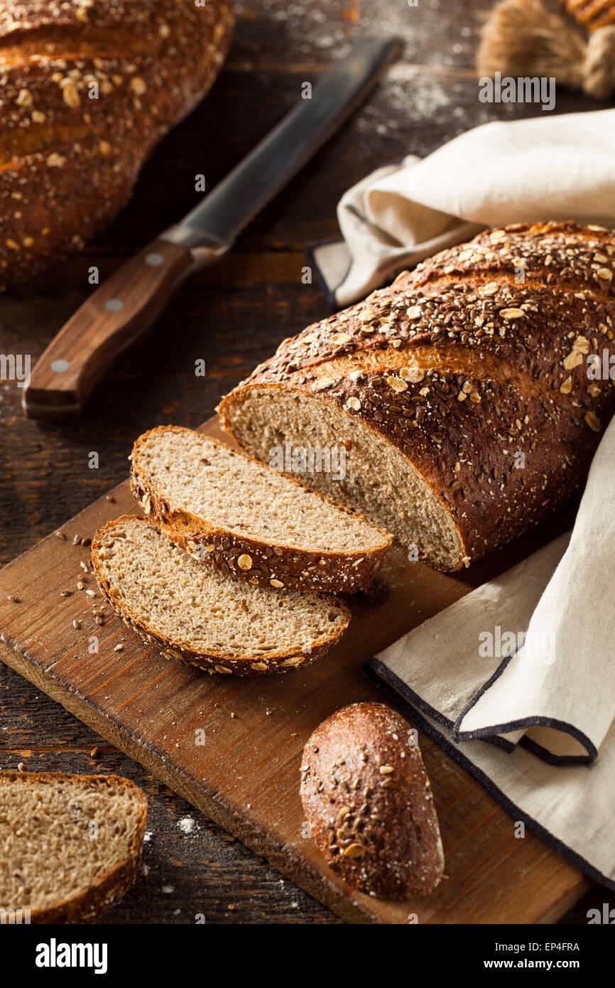 Organic Homemade Whole Wheat Bread Ready to Eat Stock Photo