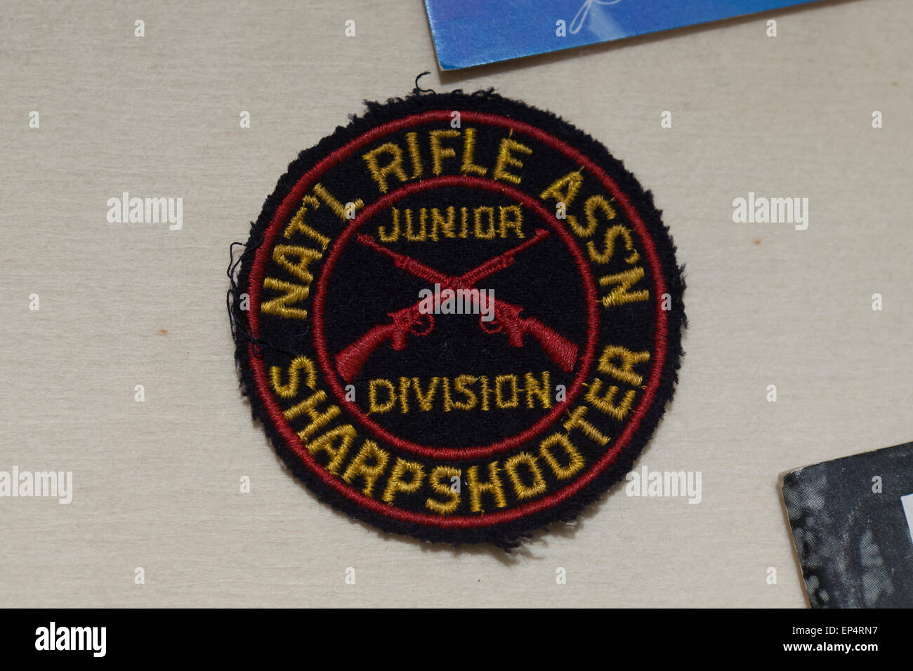 NRA Sharpshooter Junior Division patch - USA - Stock Image