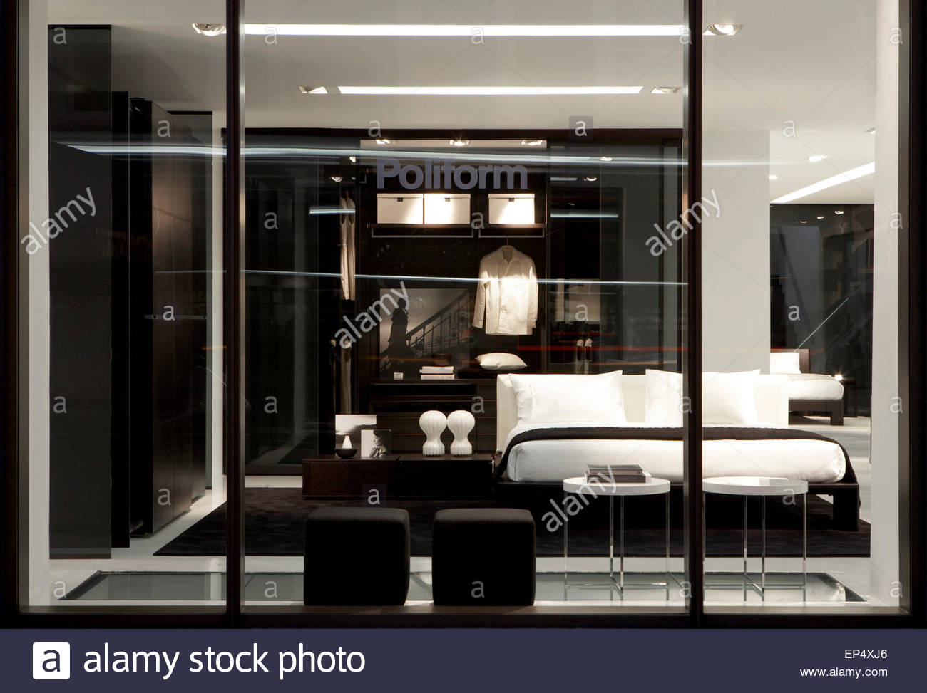 Display windows detail poliform showroom london london united stock photo 82472606 alamy - Poliform showroom ...