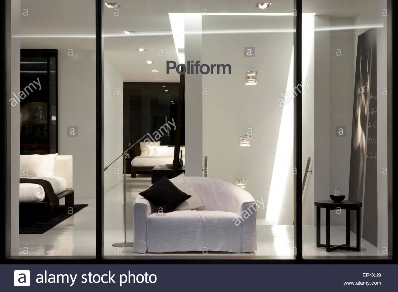 Display windows detail poliform showroom london london united stock photo 82472609 alamy - Poliform showroom ...