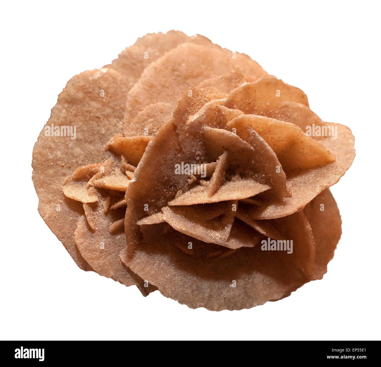 Crystal desert rose. - Stock Image