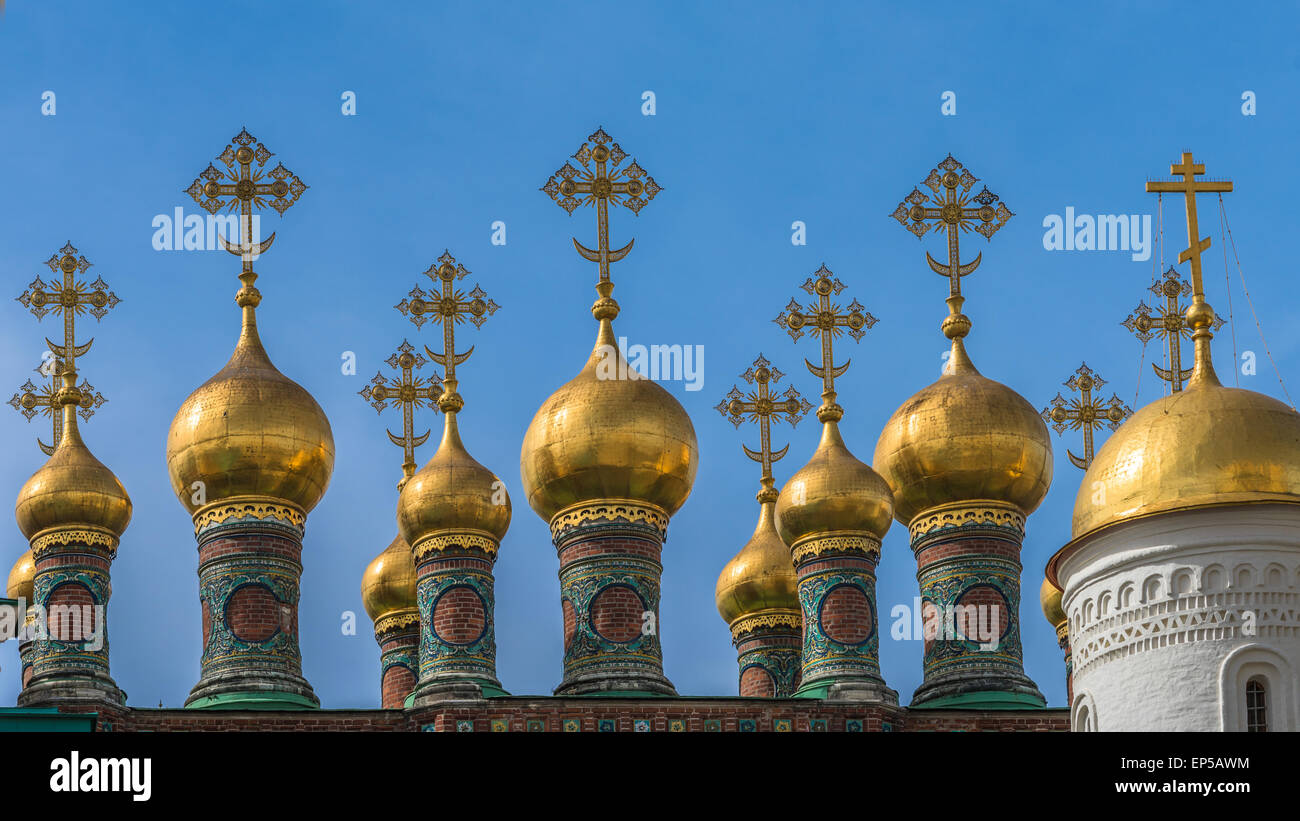 Church of the Deposition of the Robe, Moscow Kremlin, Rusiia - Stock Image