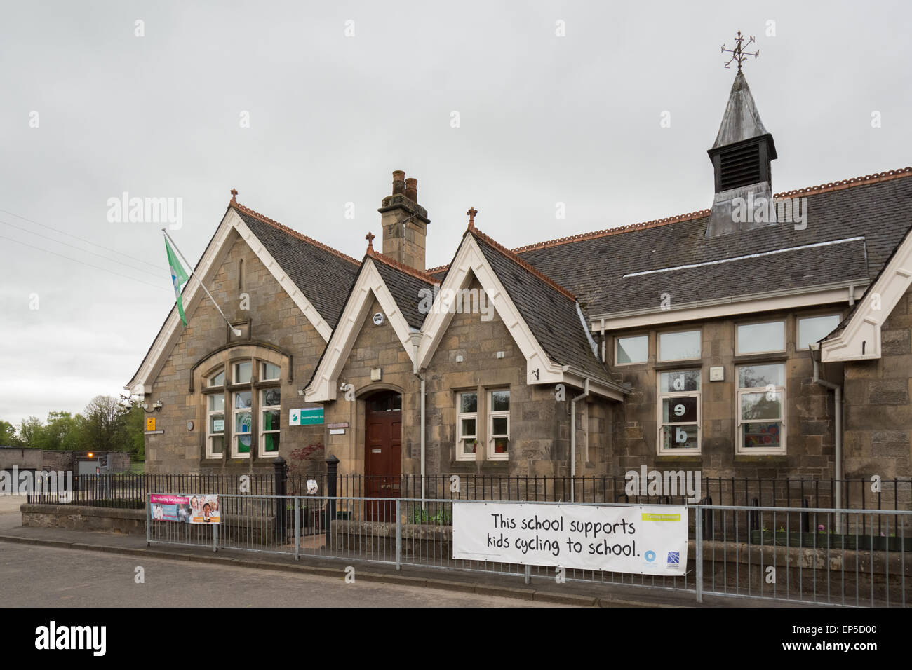 Deanston Primary School, Perth, Scotland - built in 1897 - with approximately 24 pupils - Stock Image