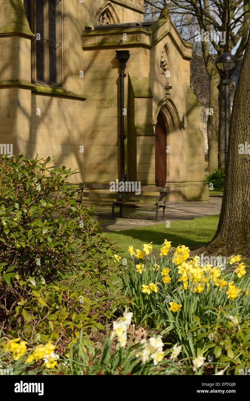 A view of the minster at dewsbury - Stock Image