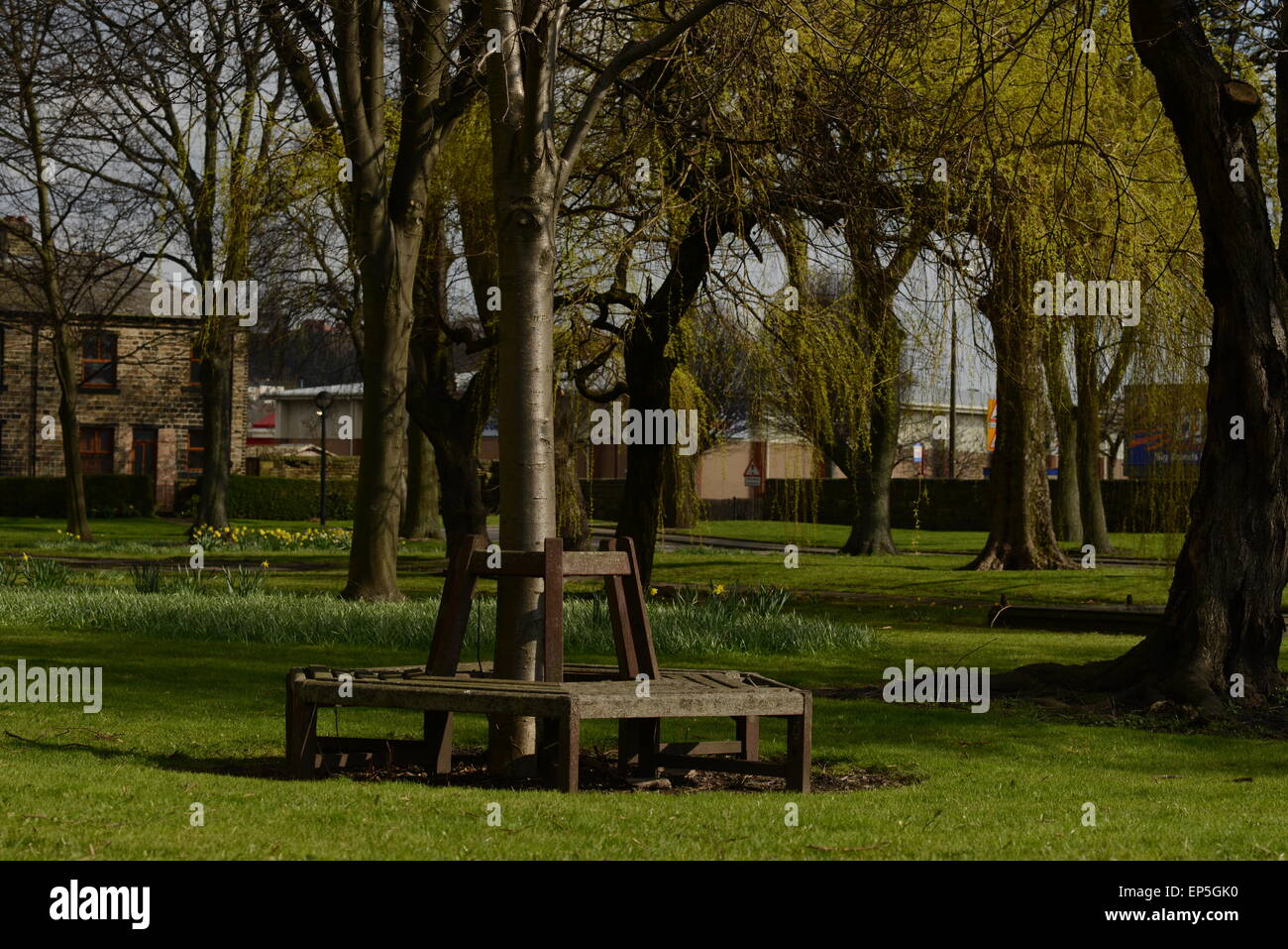 A view of the grounds at Dewsbury Minster - Stock Image