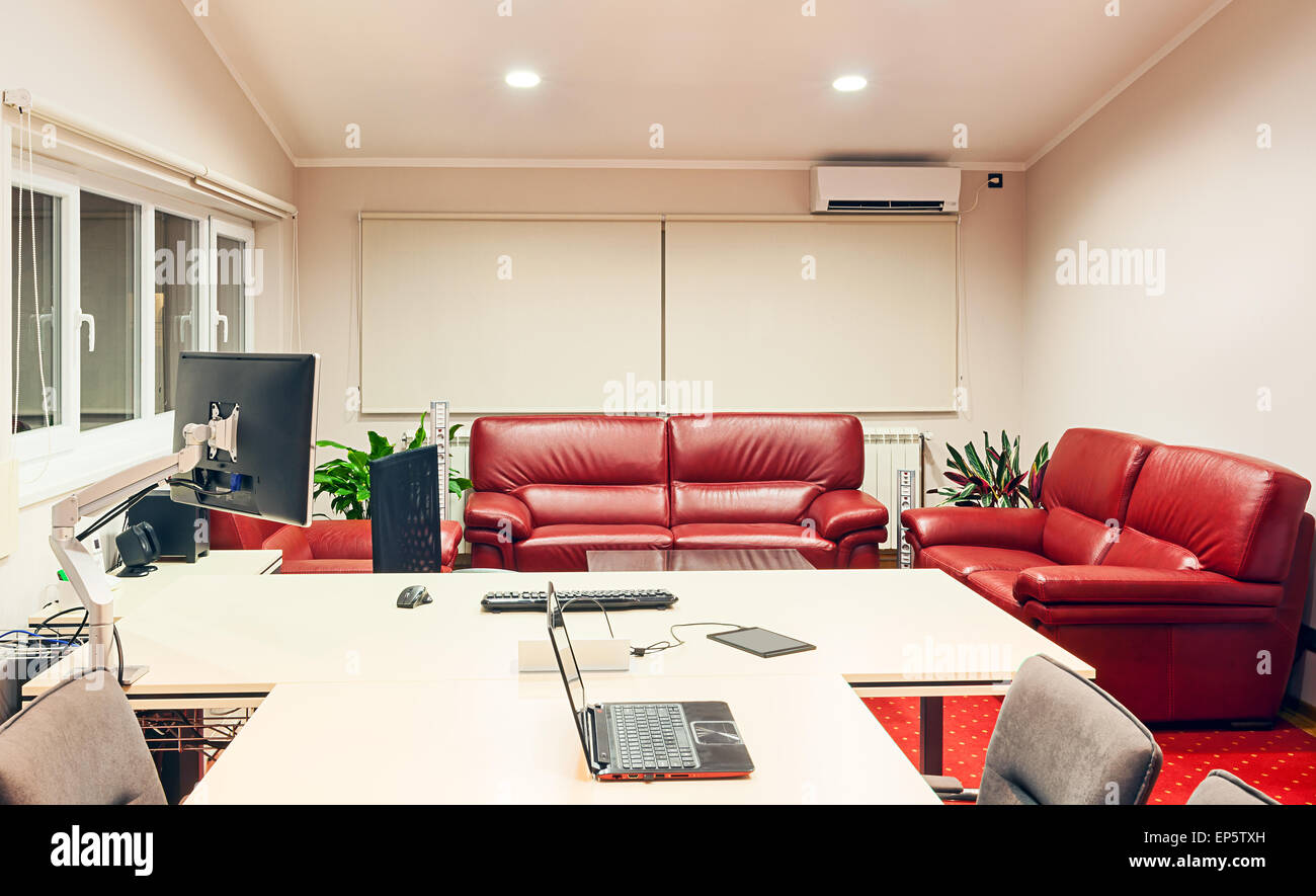 Interior Of A Manager Office Modern Design With Luxury Furniture