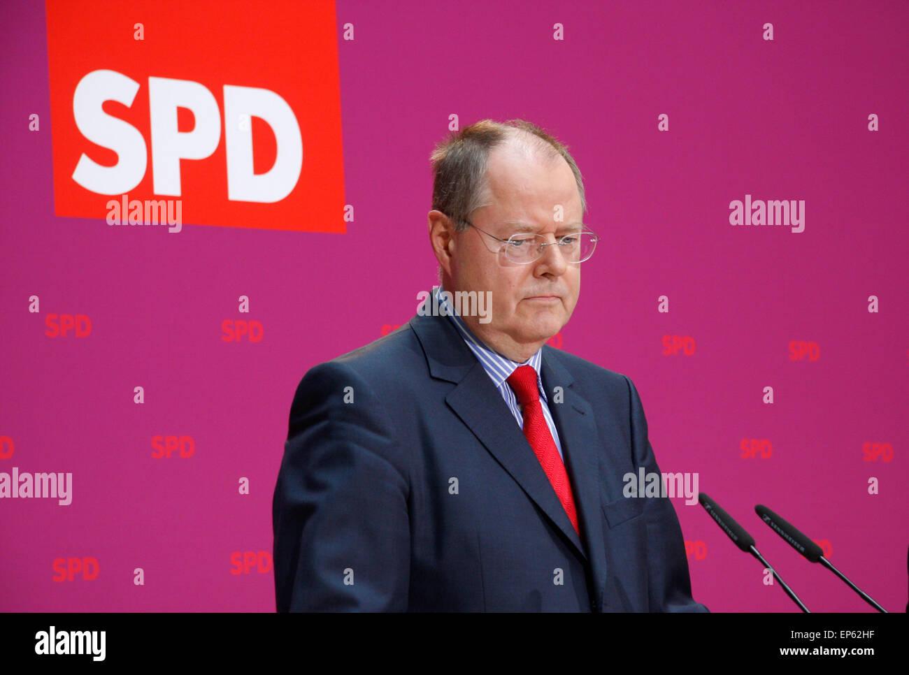 Peer Steinbrueck - offizielle Bekanntgabe der Kanzlerkandidatur Peer Steinbruecks fuer die Bundestagswahlen 2013, - Stock Image