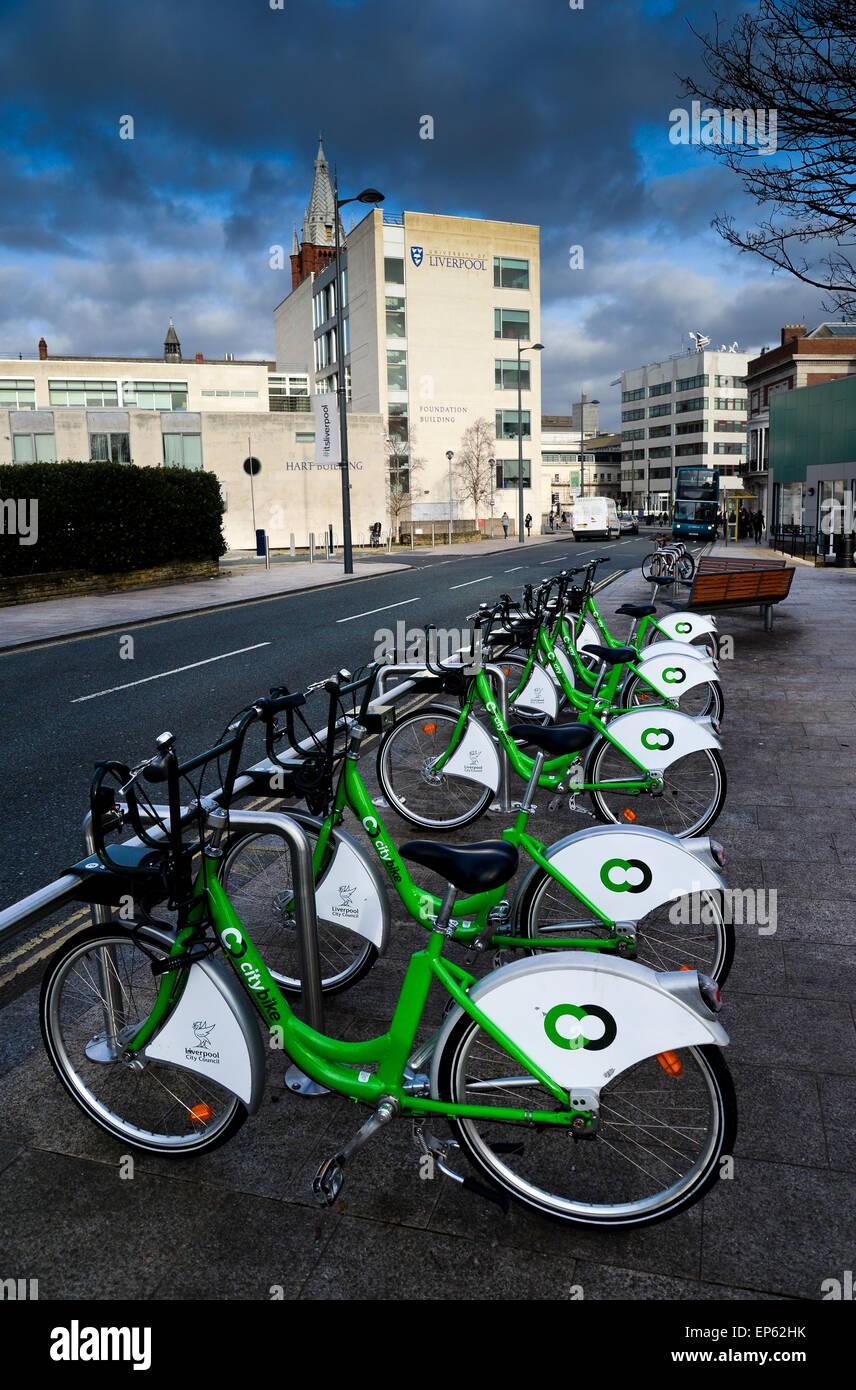 Citybike at University of Liverpool - Stock Image