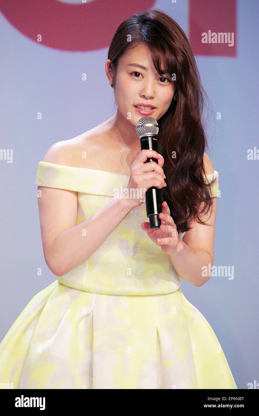 mituki takahata Japanese actress, Mitsuki Takahata speaks during a press conference for the  launch of its summer