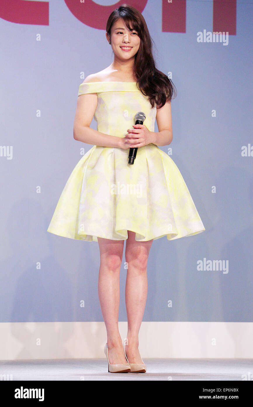 mituki takahata Japanese actress, Mitsuki Takahata attends a press conference for the  launch of its summer lineup of 10 new mobile devices on May 13, 2015,  Tokyo, Japan.