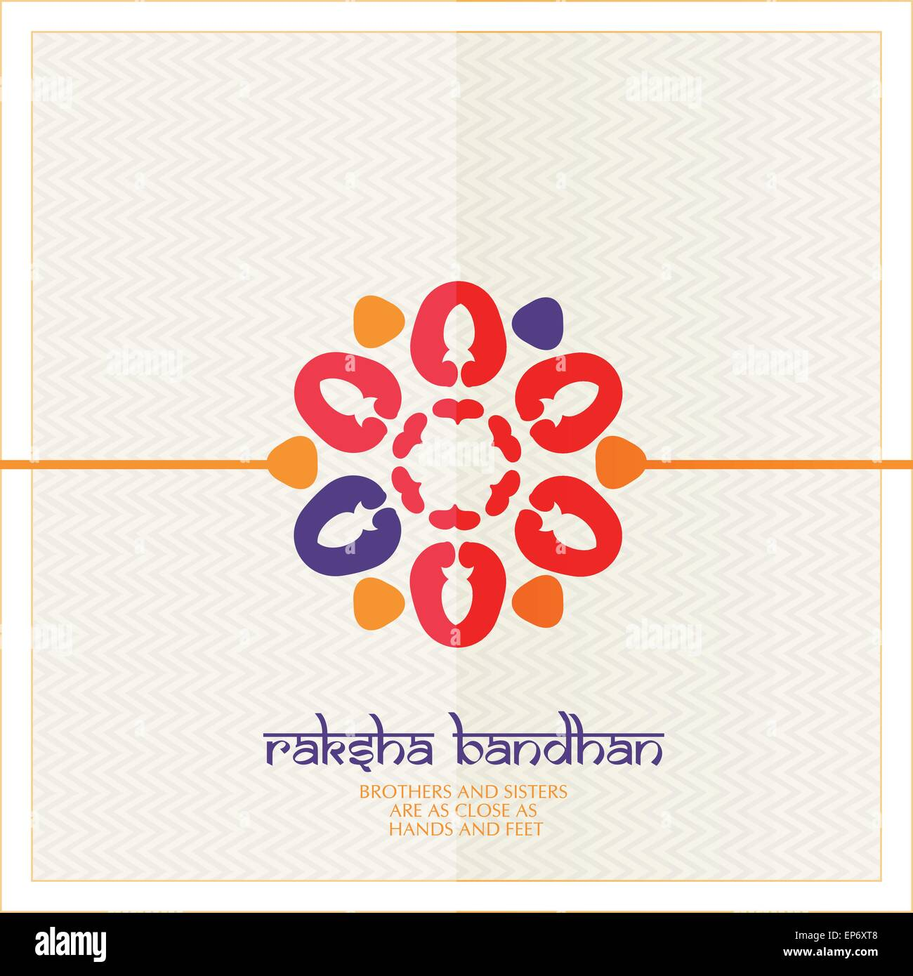Indian Festival Raksha Bandhan Card Background With Beautiful Rakhi