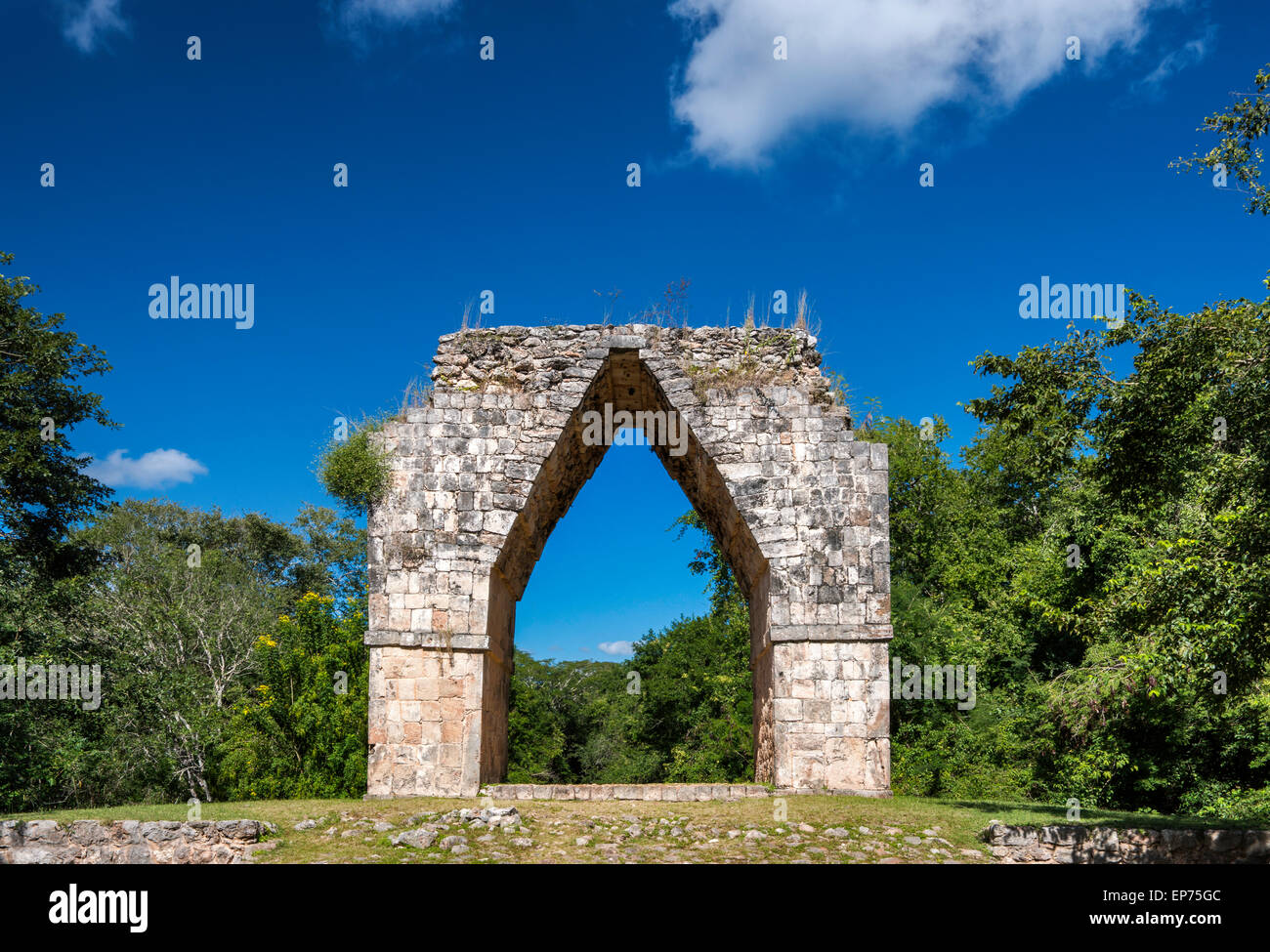 El Arco, Maya ruins at Kabah archaelogical site, Ruta Puuc, Yucatan state, Mexico - Stock Image
