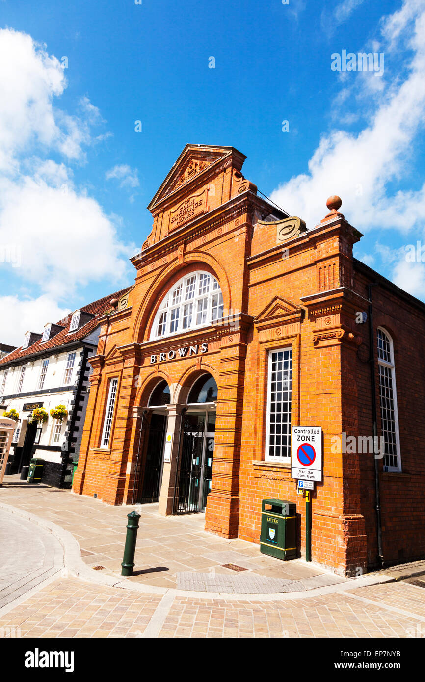 Beverley corn exchange exterior front facade East Riding Of Yorkshire UK England wetherspoon Wetherspoons pub - Stock Image
