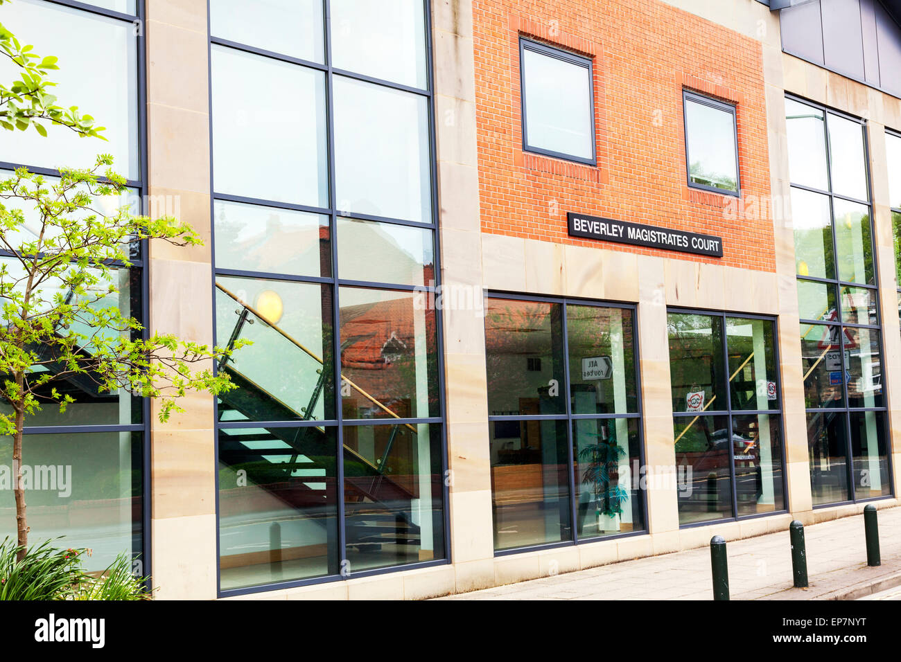 Beverley magistrate magistrates court house building exterior front entrance facade  East Riding Of Yorkshire UK - Stock Image