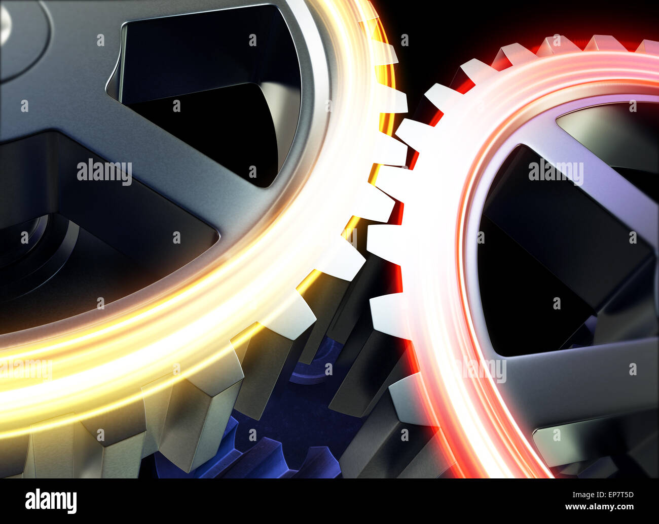 Gear or cogwheel working together - Stock Image