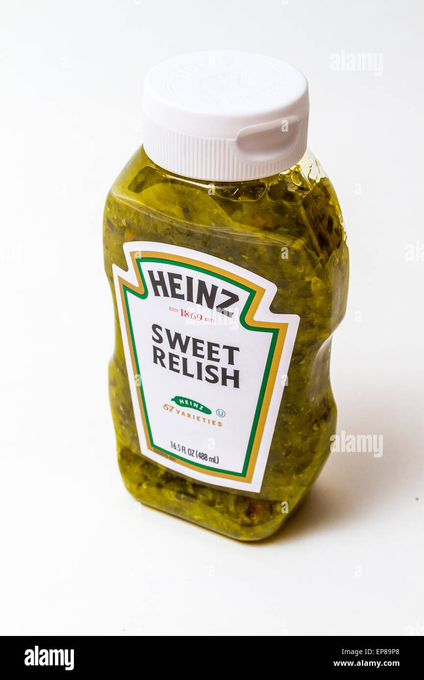 A Squeeze Bottle Of Heinz Sweet Pickle Relish Stock Photo Alamy