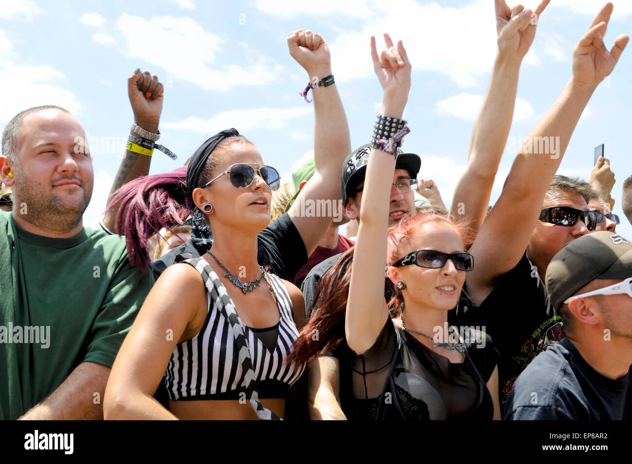 The 2015 Monster Energy Carolina Rebellion  Music Festival, crowd, audience, fans, people. - Stock Image