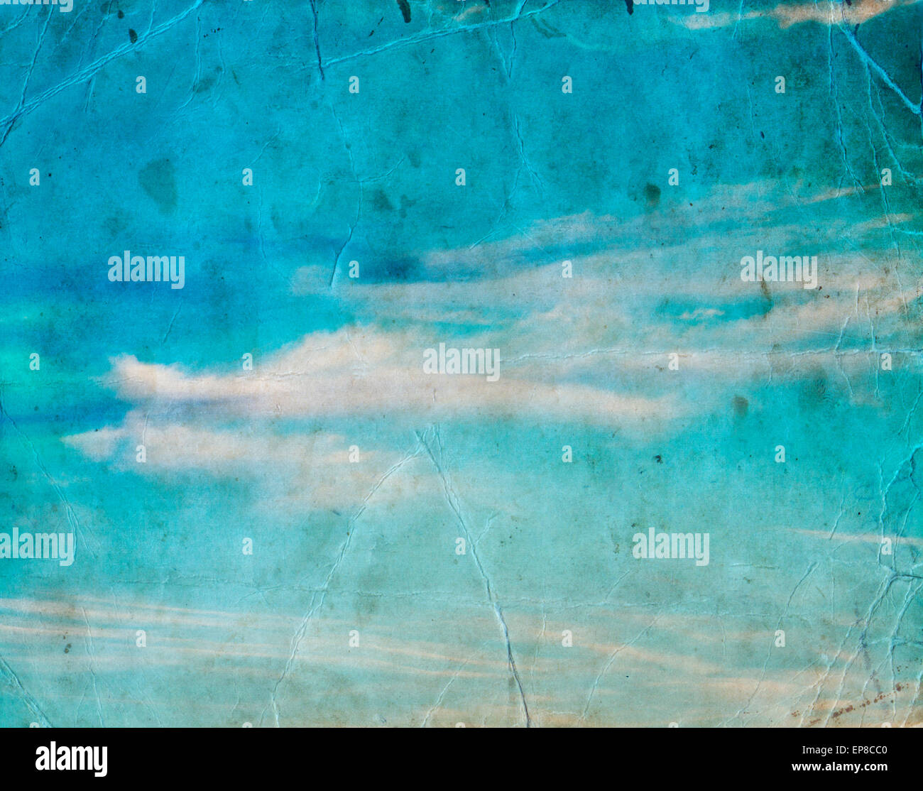 cloud in blue sky, nature background - Stock Image