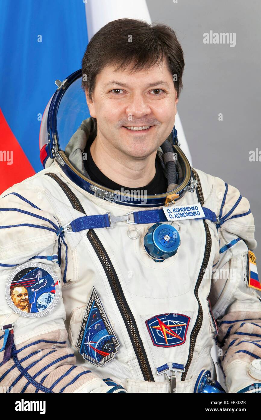 International Space Station Expedition 44 crew Russian cosmonaut Oleg Kononenko official portrait wearing the the - Stock Image
