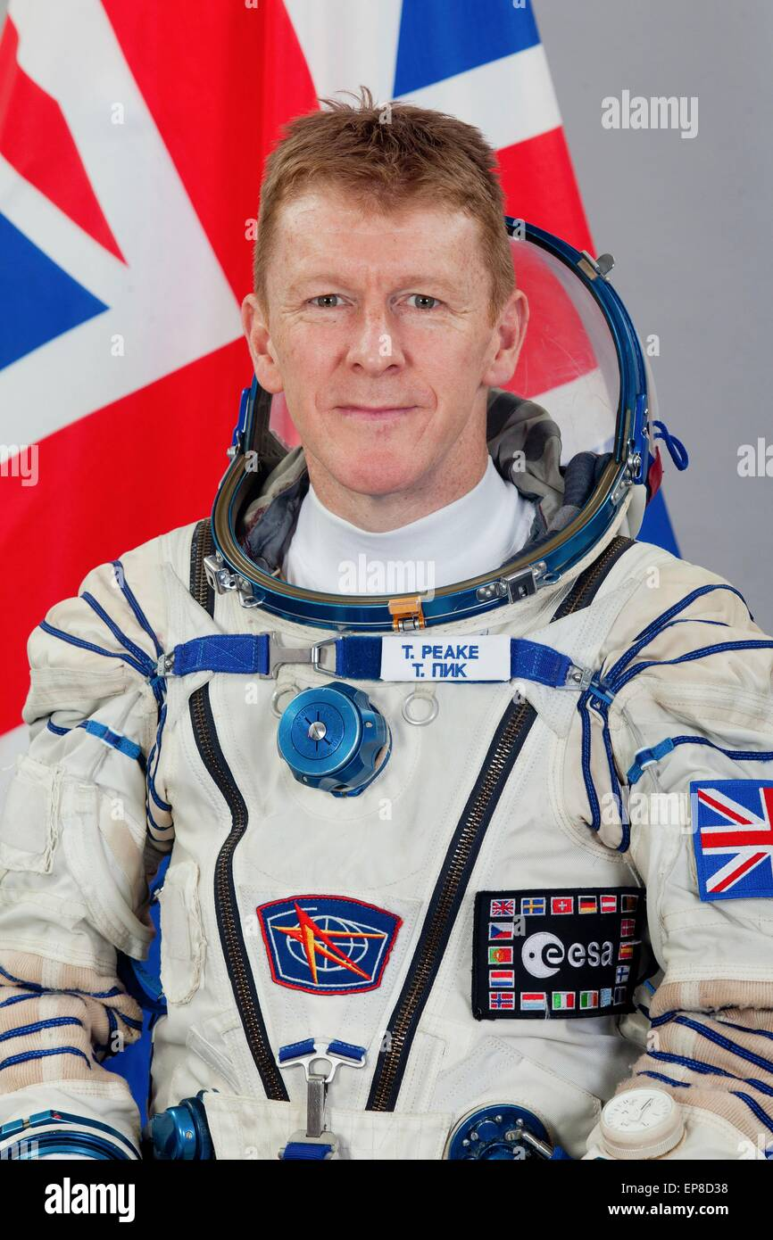 International Space Station Expedition 44 backup crew member ESA astronaut Timothy Peake official portrait wearing - Stock Image