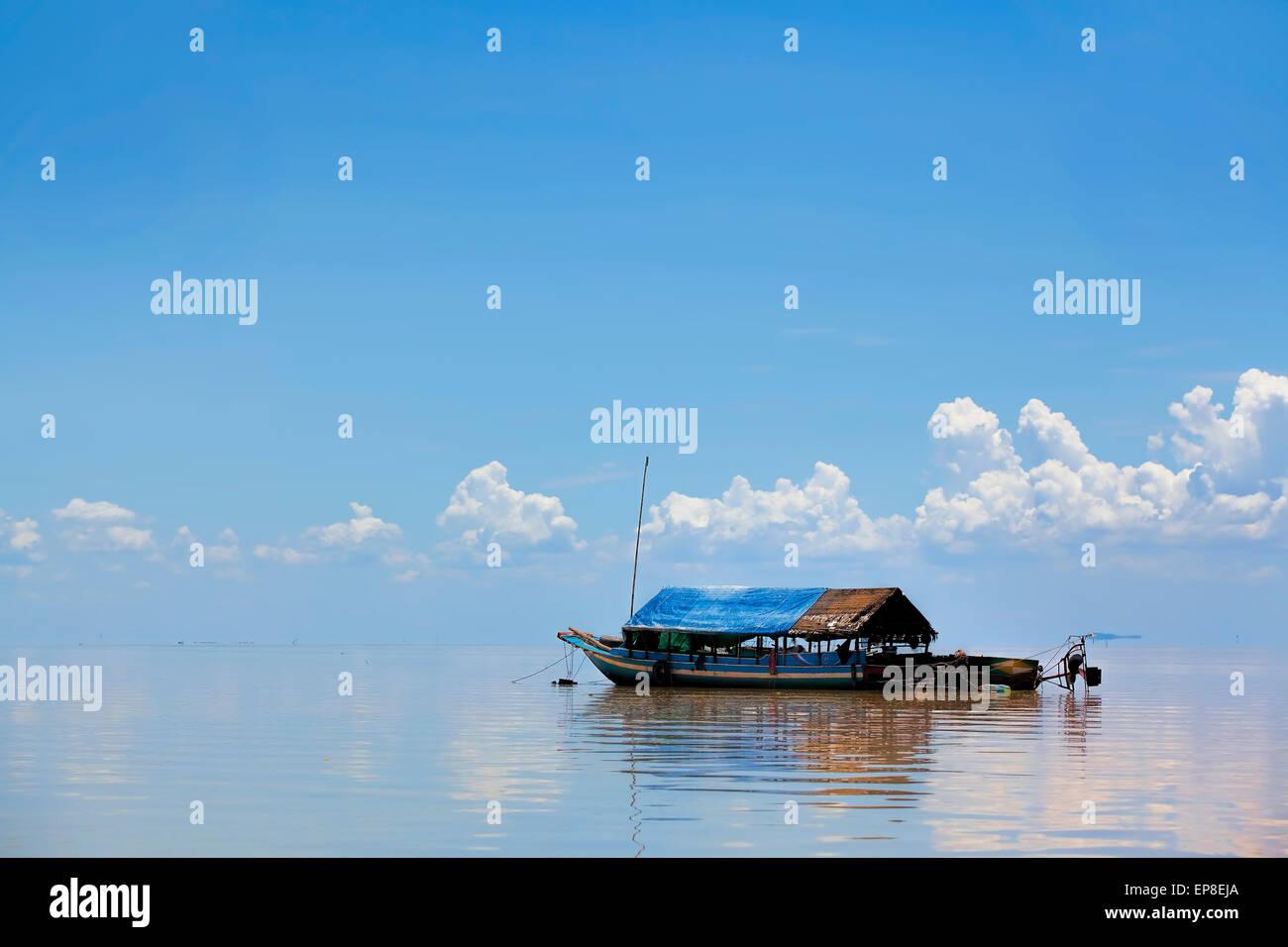 Floating village - Stock Image
