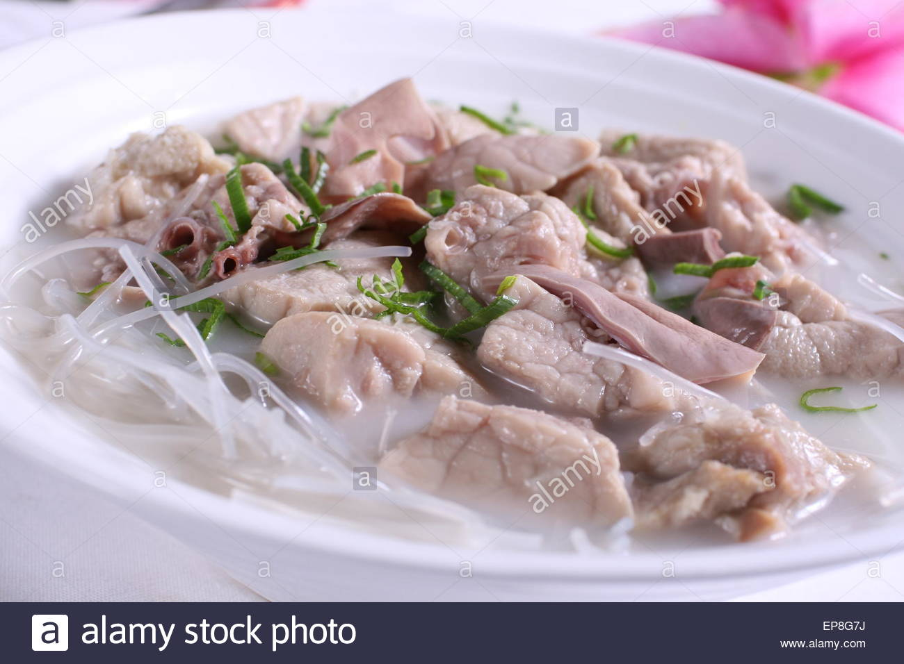 stewed lung soup - Stock Image