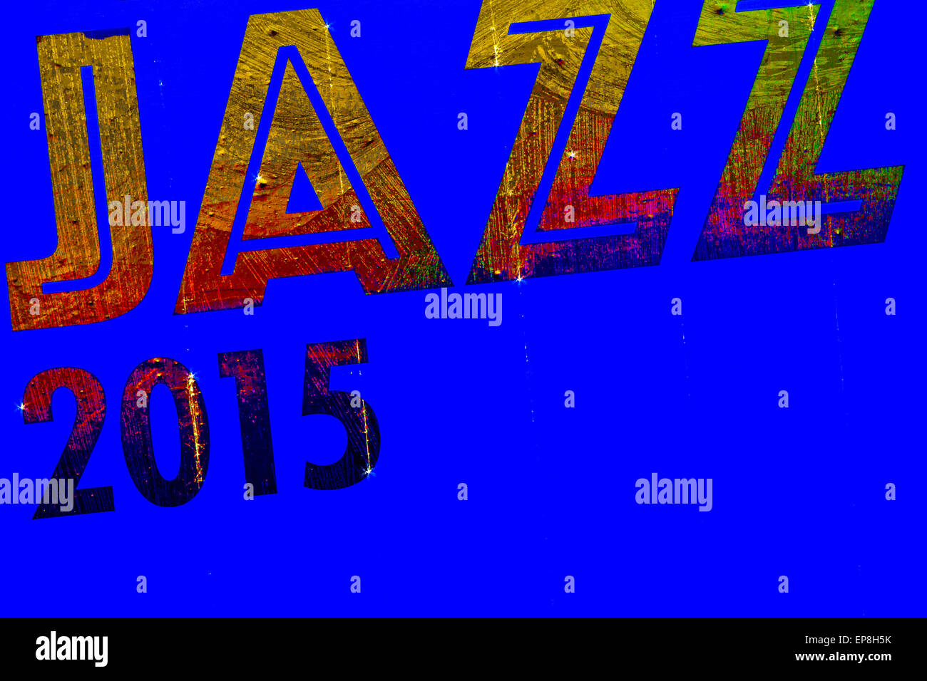 Graphic processing of the word jazz combined all-2015. - Stock Image
