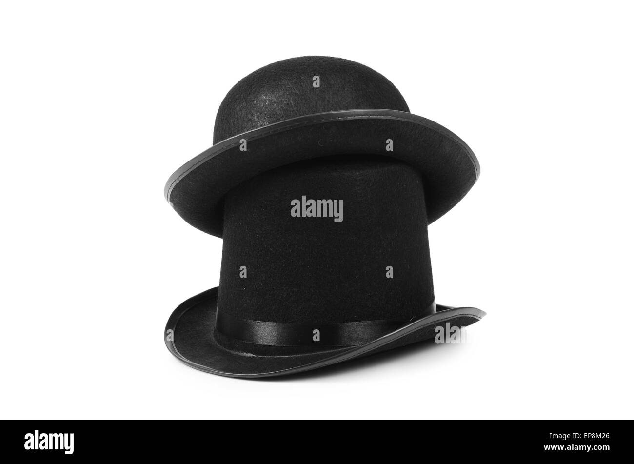 d2b5a62d438 Black Top Hats Black and White Stock Photos   Images - Alamy