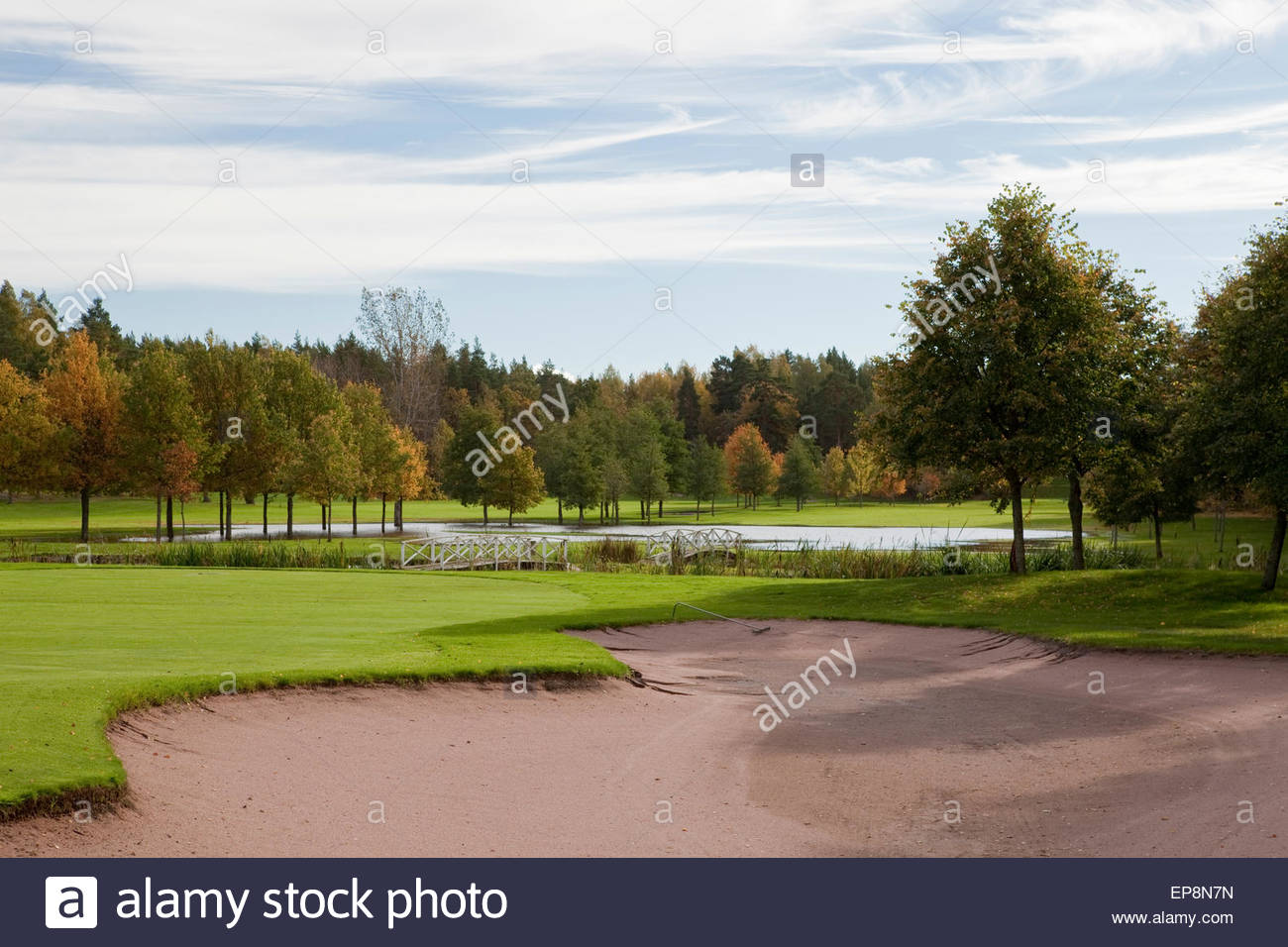 Ruissalo golf course Aura golf - Stock Image