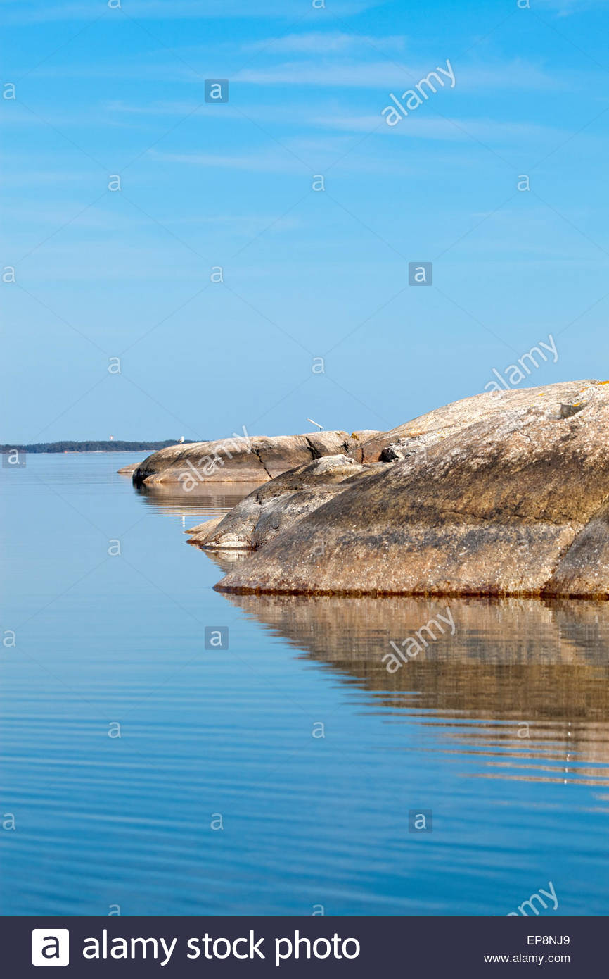 Beautiful spring day in the archipelago of Finland - Stock Image