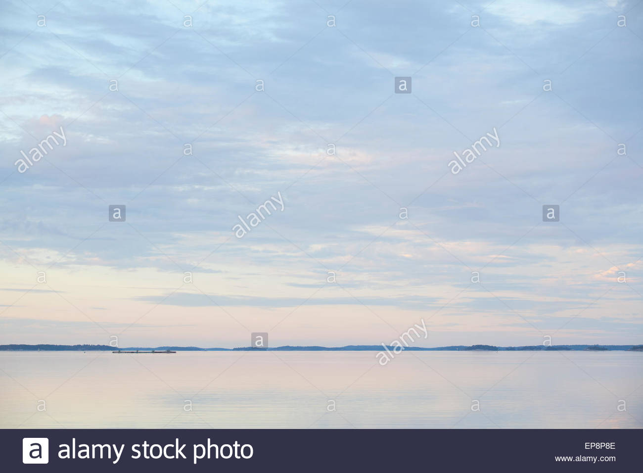 Summer nature at the Baltic Sea in Finland - Stock Image